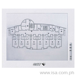 Intelligent Fire Alarm Graphic Repeater Panel GST8903